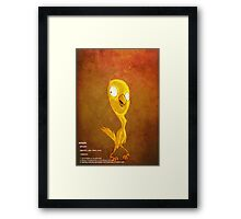 a Disassembly of Simplicity in Canary Yellow Framed Print