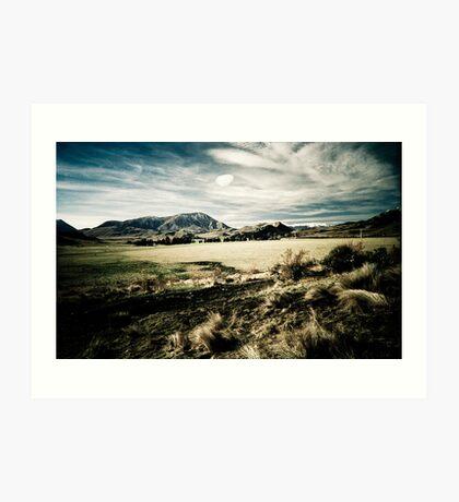 South Island Mountains - New Zealand Art Print