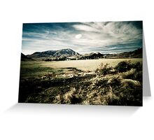 South Island Mountains - New Zealand Greeting Card