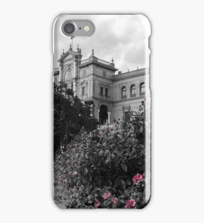 Plaza de Espana, Seville, colorsplash iPhone Case/Skin