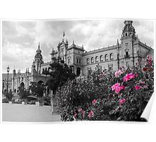 Plaza de Espana, Seville, colorsplash Poster