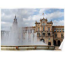 Plaza de Espana, Seville, Spain  Poster