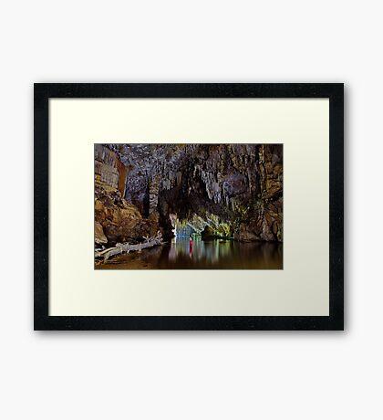 Lod Cave river tunnel, Thailand Framed Print