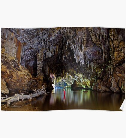 Lod Cave river tunnel, Thailand Poster