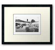 Tank Stop - Retro Style Framed Print