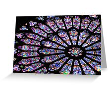 Rose Window I - NOTRE DAME DE PARIS Greeting Card