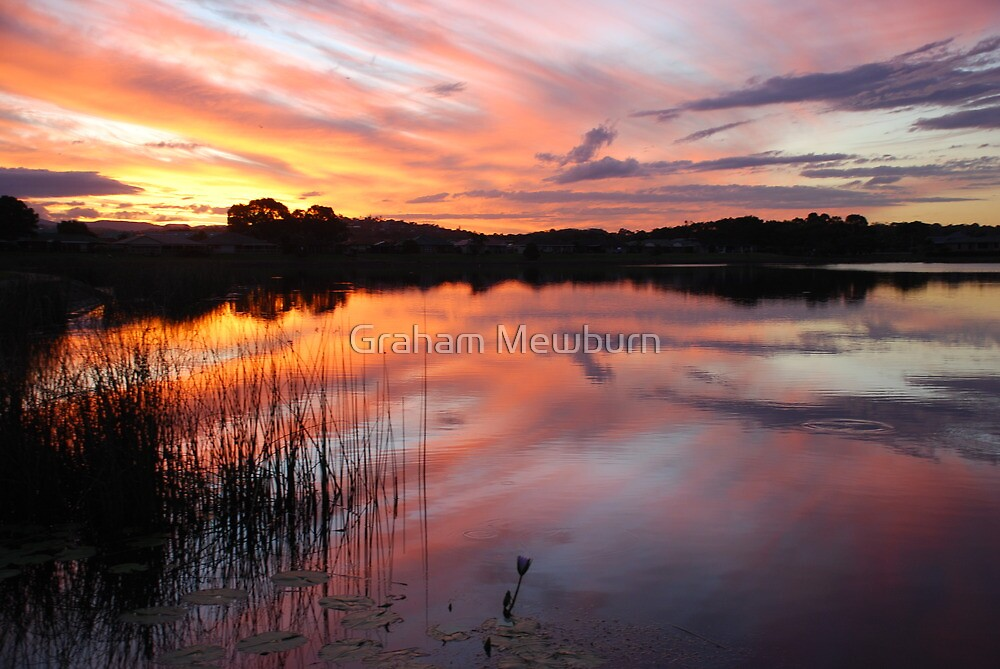 End of Day on Lake Kimberley by Graham Mewburn