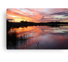 End of Day on Lake Kimberley Canvas Print