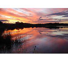 End of Day on Lake Kimberley Photographic Print