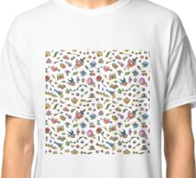 Colorful Funny Old School Tattoo Pattern Classic T-Shirt