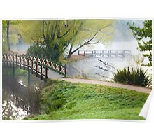 Bridge over Lake Daylesford Poster