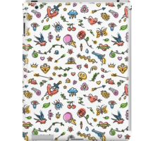 Colorful Funny Old School Tattoo Pattern iPad Case/Skin