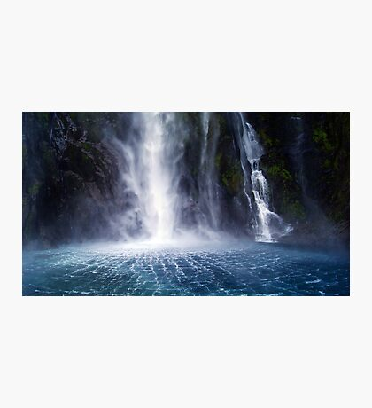 Waterfall:Milford Sound Photographic Print