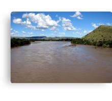 The Orange River (Afrikaans/Dutch: Oranjerivier), South Africa.  Canvas Print