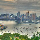 Then There Was LIght # 3 - Sydney Harbour Sydney Australia - The HDR Experience by Philip Johnson