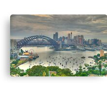 Then There Was LIght # 3 - Sydney Harbour Sydney Australia - The HDR Experience Canvas Print