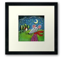Night Mouse Framed Print