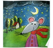Night Mouse Poster