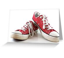 Red runners Greeting Card