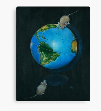 Around the World in Eighty Seconds Canvas Print