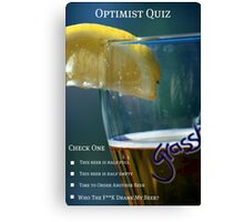 Optimist Quiz Canvas Print