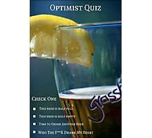 Optimist Quiz Photographic Print
