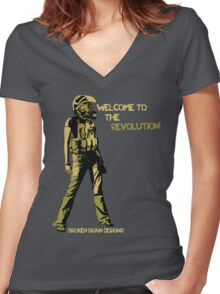 Welcome to the Revolution - V.02 Women's Fitted V-Neck T-Shirt