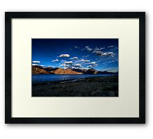 True Blue Pangong Framed Print