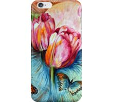 Tulips and butterfly iPhone Case/Skin