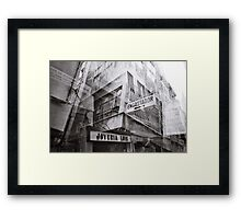 Mallorca, street in analogue Framed Print