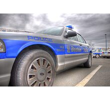 Boston Police Cruiser Photographic Print
