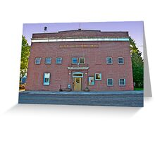 Golden Valley County (Montana) Court House Greeting Card