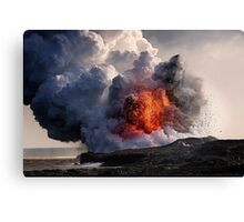 Kilauea Volcano at Kalapana 8 Canvas Print