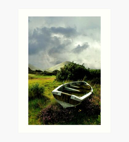 old boat.. lough na fooey Art Print