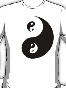 Ying Yang Black  T-Shirt