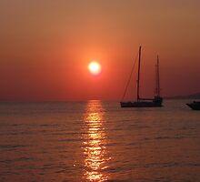sunset at Myconos summer 2010 by Marlen