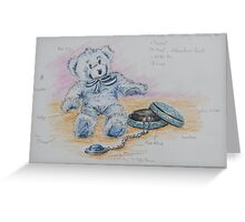 Teddy with Jewellery Box and Pendant Greeting Card