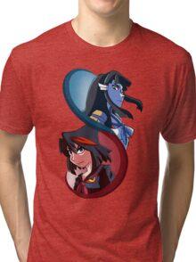 Kill la Kill - Red and Blue Oni Tri-blend T-Shirt