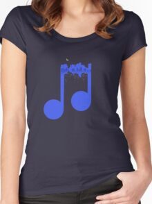Night music Women's Fitted Scoop T-Shirt