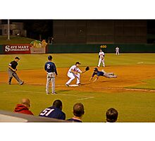 Safe!!! Stealing Third Base Photographic Print