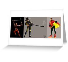 Women in comics 1986 triptych Greeting Card