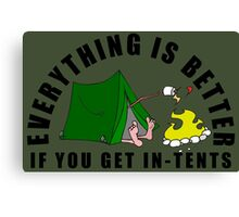 Get In-Tents. Canvas Print