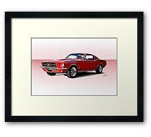 1967 Ford Mustang Fastback Framed Print