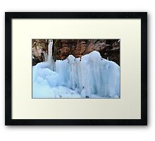 Icy sculptures Framed Print