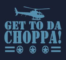 Get-To-Da-Choppa-T-Shirt-Funny-Predator-Arnie-Army-Style Kids Tee
