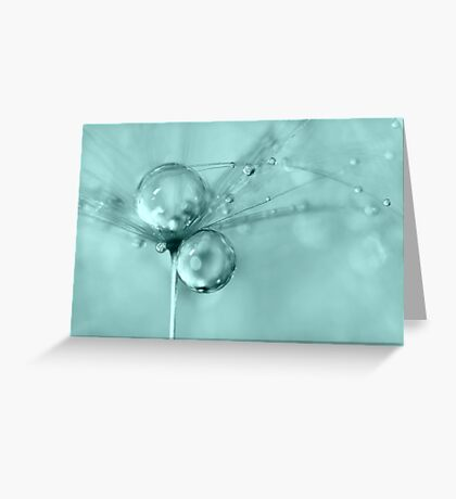 Drops of Blue Greeting Card