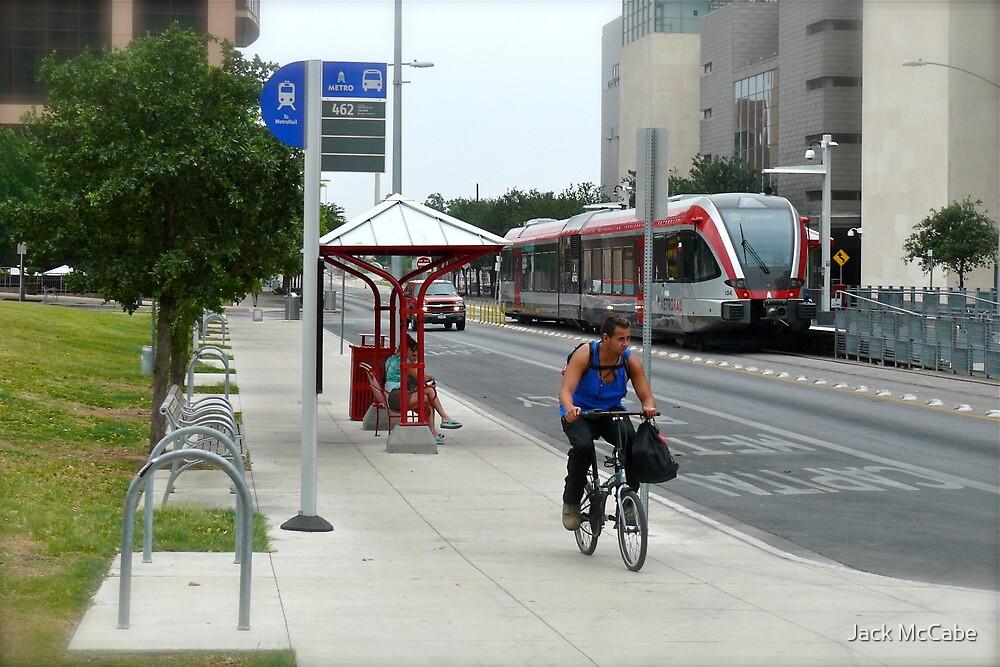 Metro Rail Terminus - Downtown - Austin Texas Series - 2011 by Jack McCabe