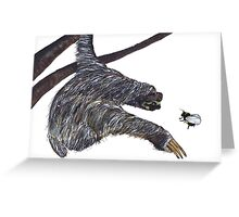 THE SLOTH & THE BUMBLE BEE Greeting Card
