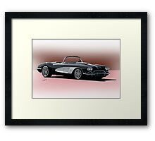 1958 Chevrolet Corvette 'Retro' Convertible Framed Print