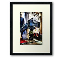 The Pulpit Framed Print